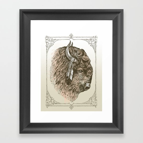 Buffalo Portrait Framed Art Print