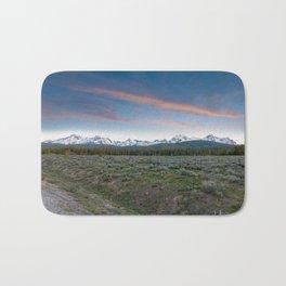 Sawtooth Mountain Sunset, Stanley, Idaho Bath Mat