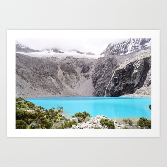 Blue Water Mountains Art Print