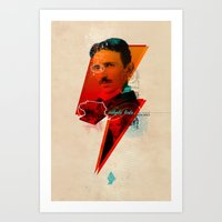 tesla Art Prints featuring Tesla by Chincol