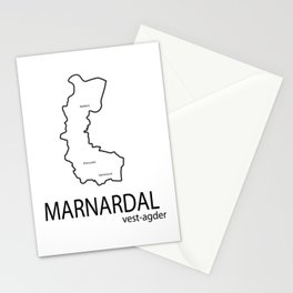 map of marnardal Stationery Cards