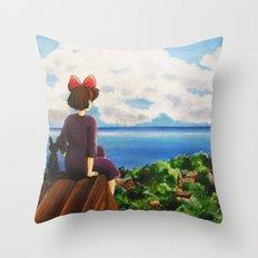 Kiki's dream Throw Pillow