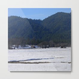 Beautiful wintry day in Hayfork, California.... Metal Print