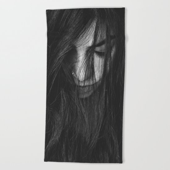 Dark Girl Beach Towel