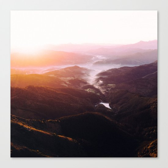 Morning Glory Mountain Landscape Canvas Print
