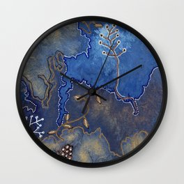 Get Cozy Botanical Abstract Wall Clock