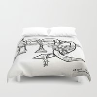 virgo Duvet Covers featuring Virgo by Megan Dill