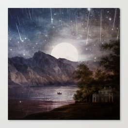 Love under A Wishing Star Sky Canvas Print