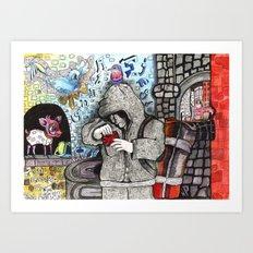 Just Escaped  Art Print