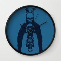 donnie darko Wall Clocks featuring Donnie Darko by sgrunfo