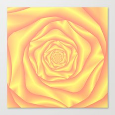 Yellow and Pink Spiral Rose Canvas Print