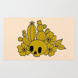 Skull and Cactus Rug