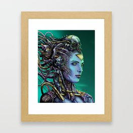 Cyberpunk Woman Framed Art Print