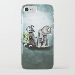 Cat and Owl iPhone Case