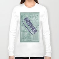 denver Long Sleeve T-shirts featuring Denver by Dweezle