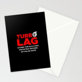 Funny Turbo Lag Car Boost Racing Stationery Cards