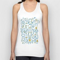robots Tank Tops featuring Robots by Peter Clayton