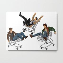 Supernatural Shopping Carts Metal Print