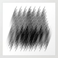 Black lines background Art Print