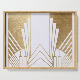 Art Deco design - blonde Serving Tray