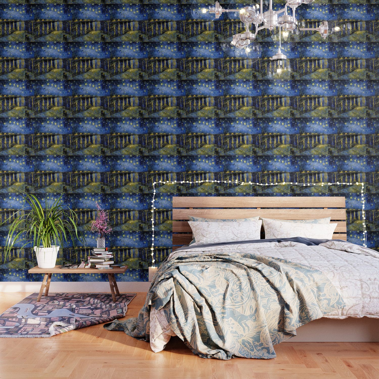 Vincent Van Gogh Starry Night Wallpaper By Purelove Society6