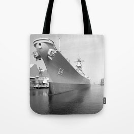 USS WISCONSIN photography Tote Bag
