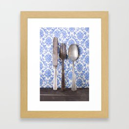 Vintage Silverware Framed Art Print