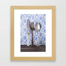 Vintage Silverware Framed Art Print