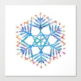 hanukkah menorah flake Canvas Print