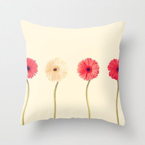 Technicolour Flowers  Throw Pillow