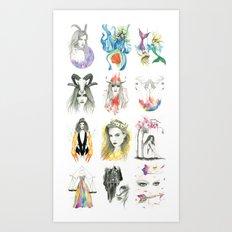 Zodiac collection Art Print