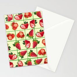 Strawberries pattern Stationery Cards