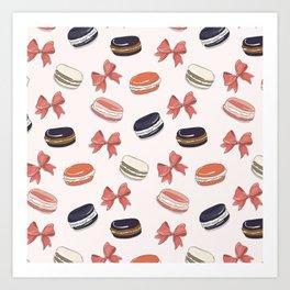 Macaroon -n- bow Art Print