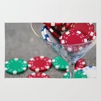 poker Area & Throw Rugs featuring Poker night by smittykitty