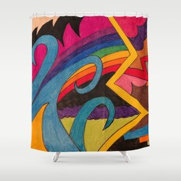 Comfort and Courage Shower Curtain