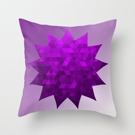 Kwan Yin's Star | Purple Flame | Compassion Throw Pillow