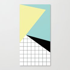 shapes and grid Canvas Print