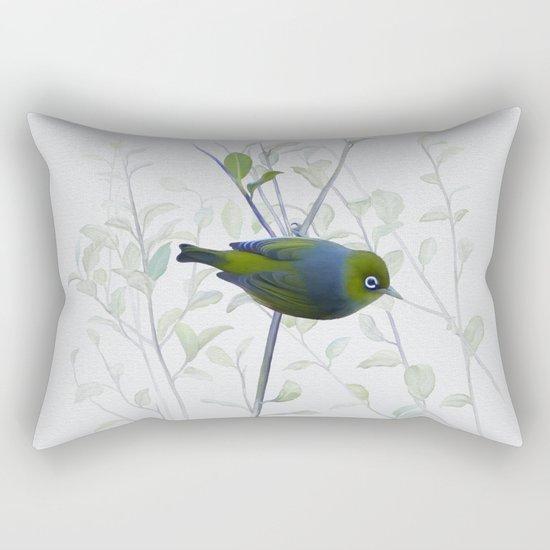 Little Silvereye Rectangular Pillow