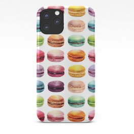 Macaroons in pop color. Delicious French Desserts. iPhone Case