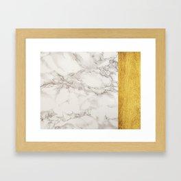 Gold Plated Marble Framed Art Print