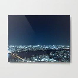 Blue Crystal City Metal Print