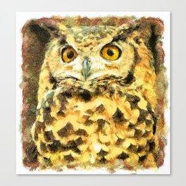 Cute Small Owl Canvas Print