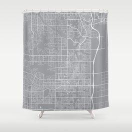 Scottsdale Map, Arizona USA - Pewter Shower Curtain