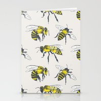 bees Stationery Cards featuring Bees by Tracie Andrews