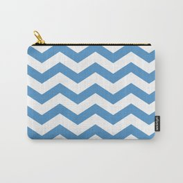 light blue chevron pattern Carry-All Pouch