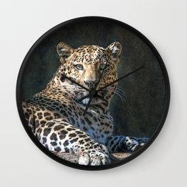 Leopard Alert Wall Clock