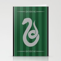 slytherin Stationery Cards featuring Slytherin by Winter Graphics