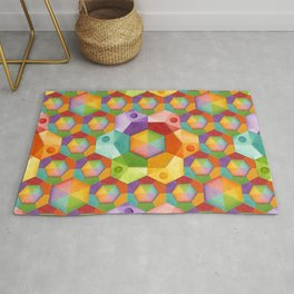 Rainbow Hexagons Rug