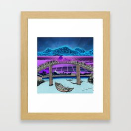 Synthwave Space: 36 views of mount Fuji #2 Framed Art Print