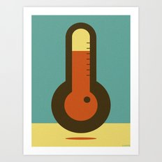 THERMO METER Art Print